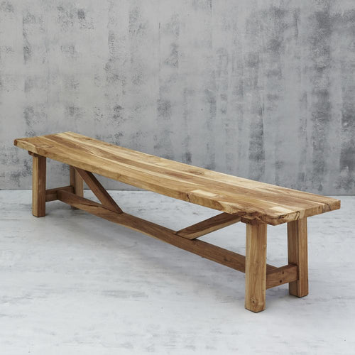 Kana Rustic Bench Seat Low Stools and Benches Dianna-Lynn Decor
