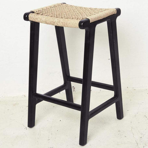 Kete Woven Outdoor Barstool - Black Dining Chairs and Bar Stools Dianna-Lynn Decor