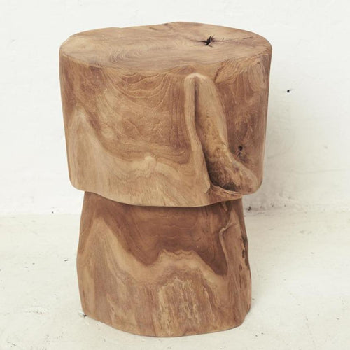 Maia Bulb Tree Stump Stool Low Stools and Benches Dianna-Lynn Decor