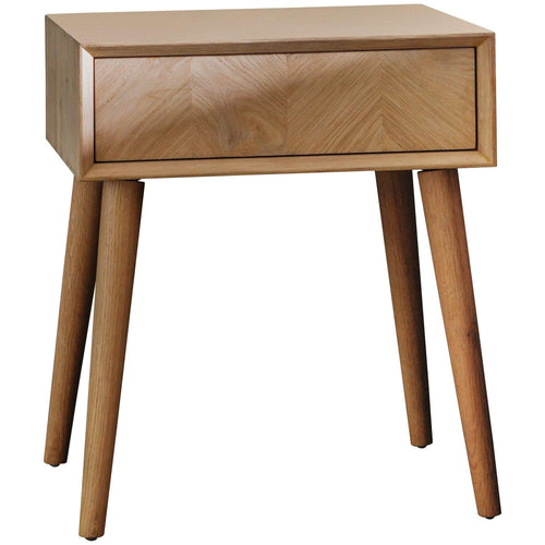 Milano 1 Drawer Side Table Bedroom Furniture Dianna-Lynn Decor