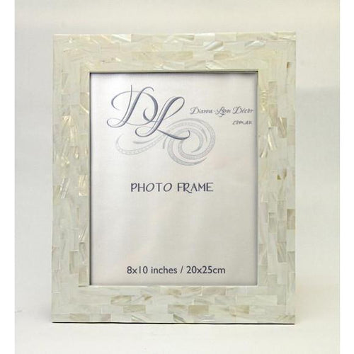 "Mother of Pearl Photo Frame - 8x10"" Photo frame Dianna-Lynn Decor"
