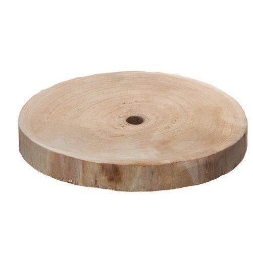 Natural Wood Slice Round BROWN (25cmx3cmH)