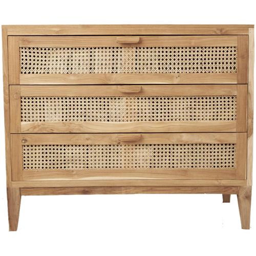 Nusa Rattan and Recycled Teak Drawers Cabinets and Consoles Dianna-Lynn Decor
