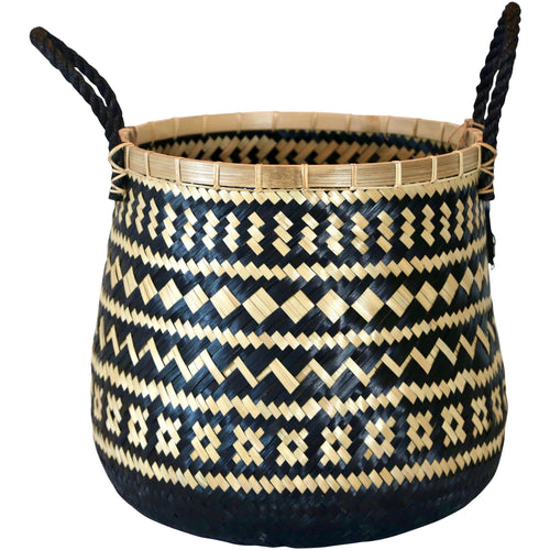 Oversize Zazu Tribal Basket with Rope Handles - Wide Basketware Dianna-Lynn Decor