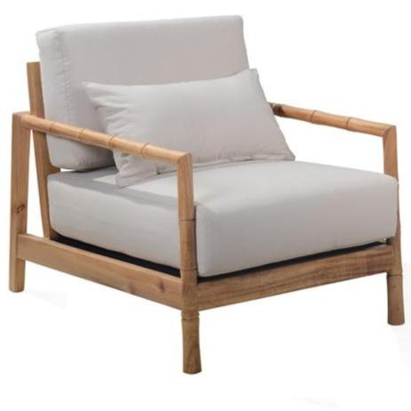 Peta Bamboo Lounge Chair - Natural