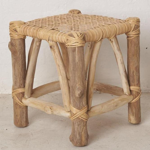 Rewa Woven Footstool Low Stools and Benches Dianna-Lynn Decor