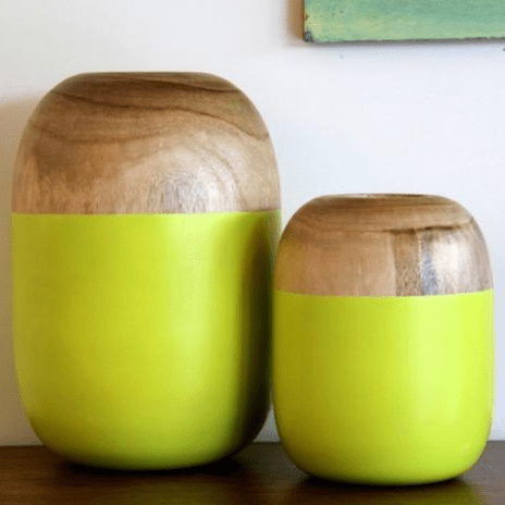 Round Vases in Natural and Green Planters and Vases Dianna-Lynn Decor