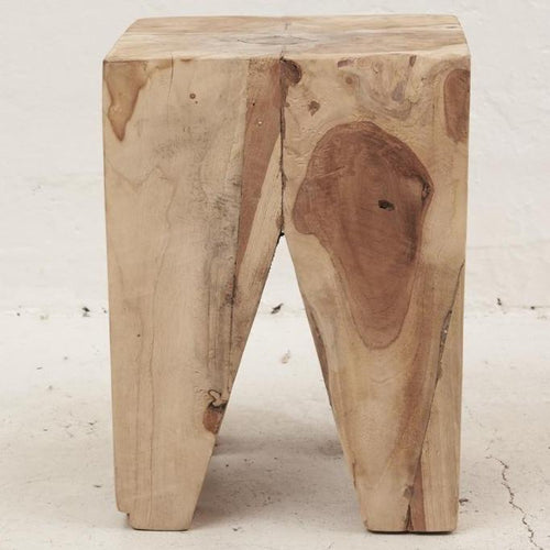 Ruta Peg Stool/Side Table - Natural Low Stools and Benches Dianna-Lynn Decor