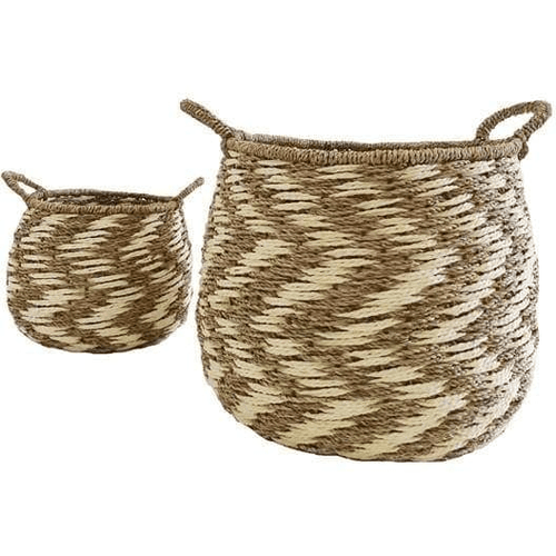 Seagrass Baskets - Set of 2 (36cmDia) Basketware Dianna-Lynn Decor