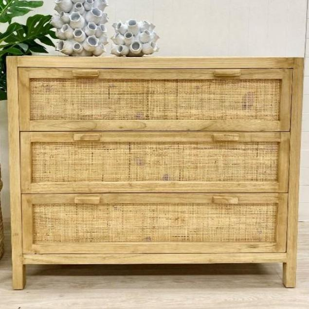 Sefa Rattan Weave Chest of Drawers
