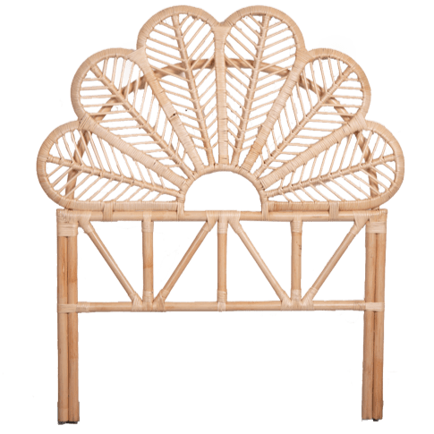 Seseh Natural Rattan Bedhead - Single Bedroom Furniture Dianna-Lynn Decor