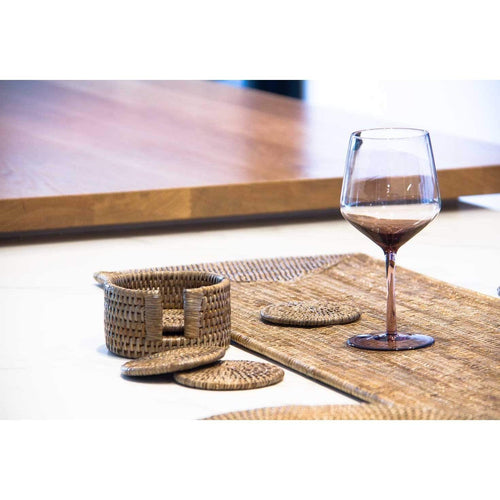 Set of 6 Rattan Coasters - Greywash Rattan Homewares Dianna-Lynn Decor