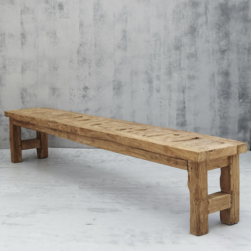 Sifo Rustic Bench Seat Low Stools and Benches Dianna-Lynn Decor
