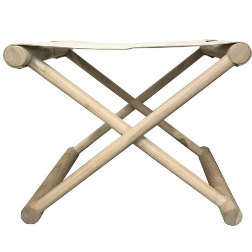 Tevita Folding Stool in Mist Low Stools and Benches Dianna-Lynn Decor