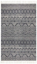 Zulu Tribal Rug - Black/Ivory