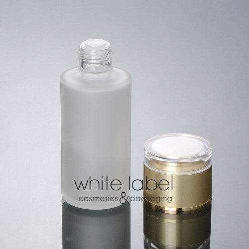 100ML Frosted Glass Dropper Bottle With Gold Lid- 50PCS/LOT