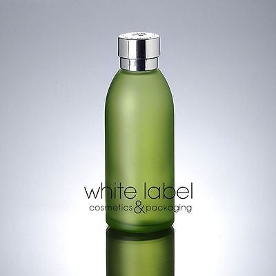 120ML GREEN GLASS COSMETIC BOTTLE ASSORTED STYLES/SIZES-LOT/50PCS