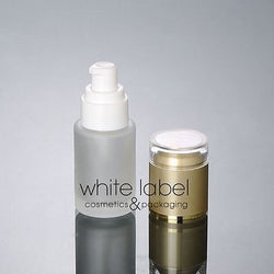 30ML FROSTED GLASS LOTION COSMETIC PUMP BOTTLES W/GOLD LID WHOLESALE- NEW 50PCS/LOT