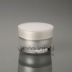 50G WHITE/PEARL COSMETIC ACRYLIC CONE SHAPE CREAM JAR WITH GOLD-NEW100PCS/LOT