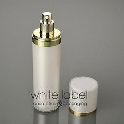 120ML PEARL/WHITE COSMETIC ACRYLIC CONE PRESS PUMP LOTION BOTTLE WITH GOLD-NEW100PCS