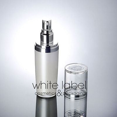 60ML PEARL WHITE PRESS PUMP COSMETIC BOTTLE WITH FLOWER PATTERNED LID-NEW 100PCS/LOT