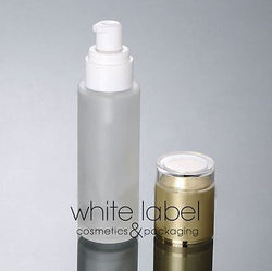 80ML FROSTED GLASS LOTION COSMETIC PUMP BOTTLE GOLD LID-50PCS/LOT