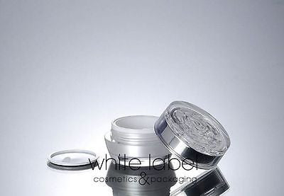 15G PEARL WHITE ACRYLIC CREAM JAR WITH FLOWER SHAPE LID - NEW 100PCS/LOT