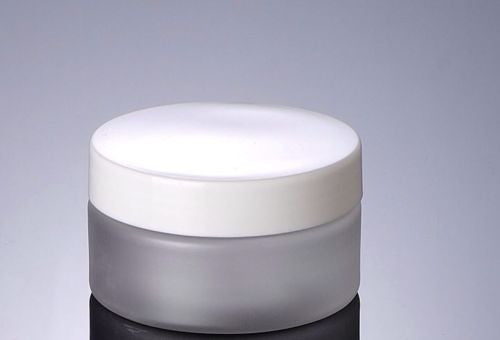 100G Frosted Cream PET Jar With White Or Black Lid-50PCS/LOT