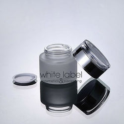 50G FROSTED GLASS COSMETIC CREAM JAR WITH SILVER LID WHOLESALE- NEW 50PCS/LOT