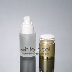 20ML FROSTED GLASS COSMETIC PUMP BOTTLES WHOLESALE/GOLD LID-50PCS/LOT