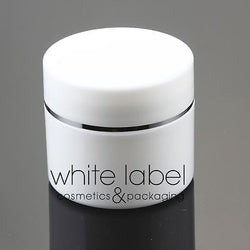 50G WHITE/SILVER DOUBLE WALL COSMETIC CREAM JAR WHOLESALE - NEW 50PCS/LOT
