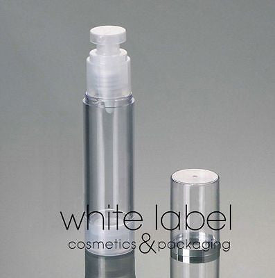 50ML PLASTIC AIRLESS VACUUM PUMP COSMETIC LOTION BOTTLE- 100PCS/LOT