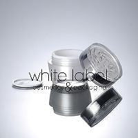 30G PEARL WHITE ACRYLIC CREAM JAR WITH FLOWER SHAPE LID - 100PCS/LOT