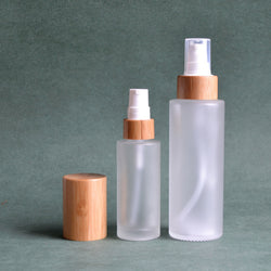 NEW Real Bamboo Glass Bottles (contact us for prices)