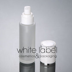 80ML FROSTED GLASS COSMETIC PUMP BOTTLES- NEW 50PCS/LOT
