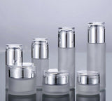 60ml frosted glass bottle with shiny silver cap (50pcs)