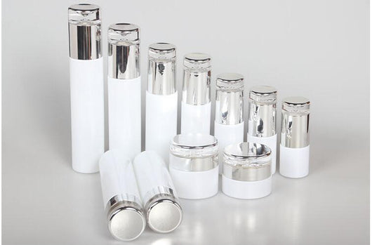 WHITE COSMETIC GLASS JARS (CONTACT US FOR PRICES)