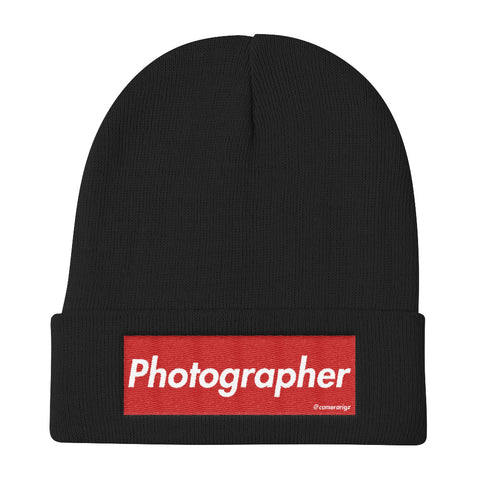 Photographer Camerarigz Knit Beanie