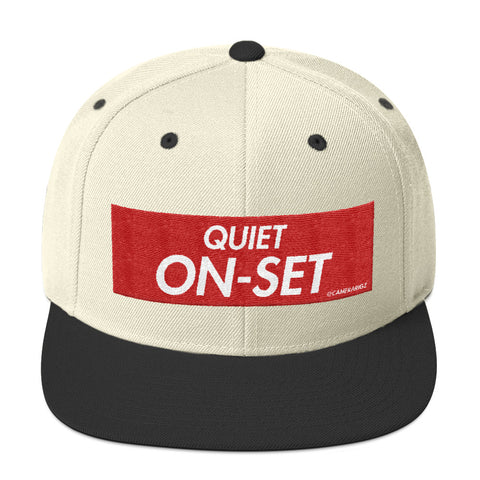 Quiet On Set Camerarigz Snapback Hat