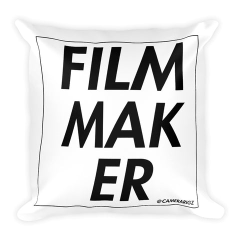 Camerarigz Filmmaker Square Throw Pillow