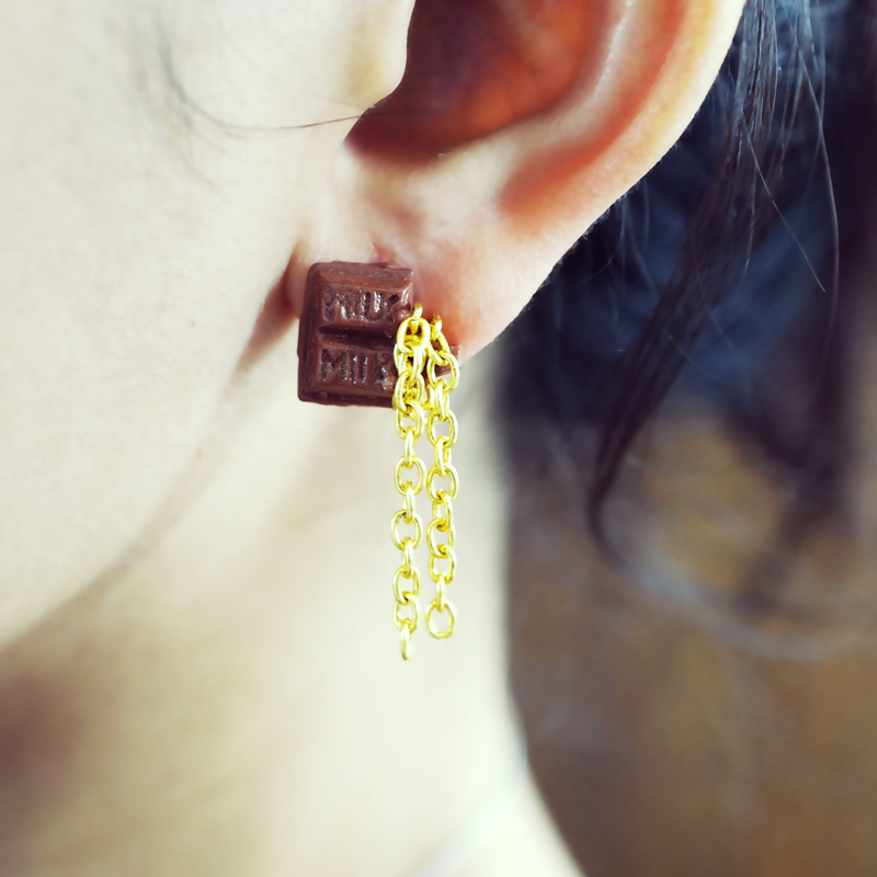 Bear with me & Chocolate - A Pair of Earrings - AMARE WEAR