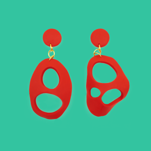Abstract Shapes of love - A Pair of Earrings