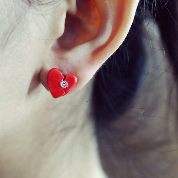 Love Aches Red III - Single Earring