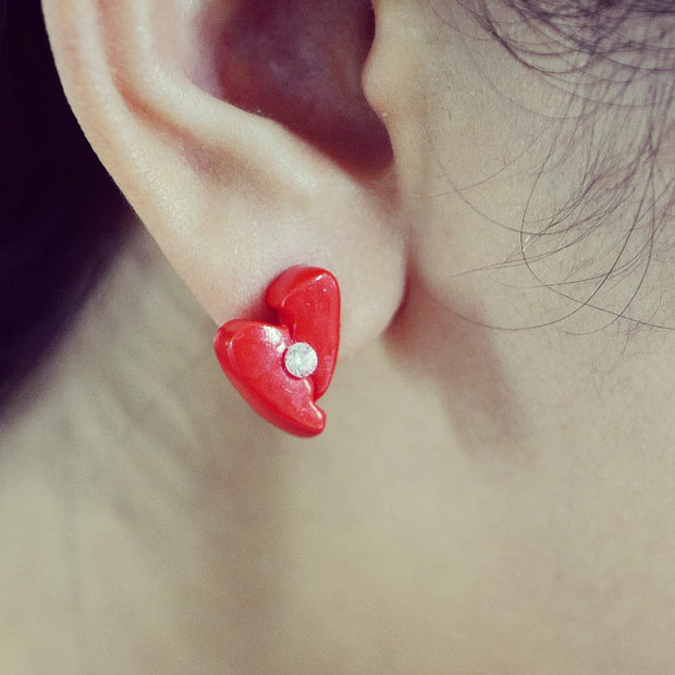 Love Aches Red II - Single Earring