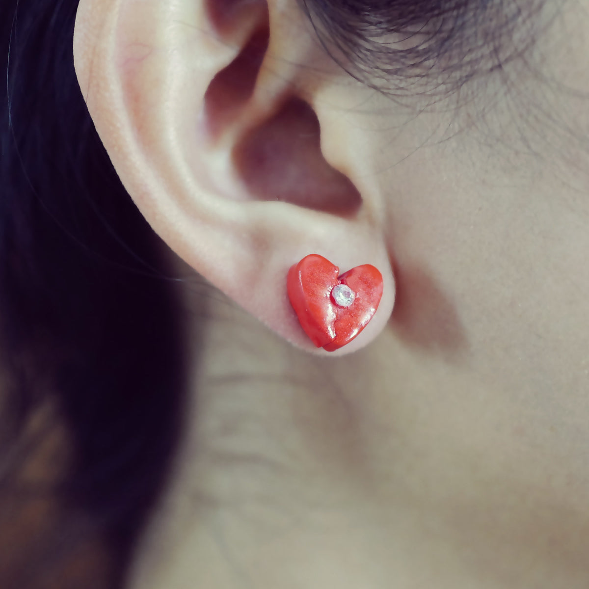 Love Aches Red Earrings - AMARE WEAR