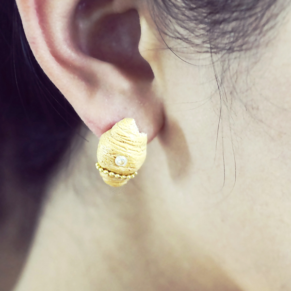 Bear With Me and Croissants - Single Earring - AMARE WEAR