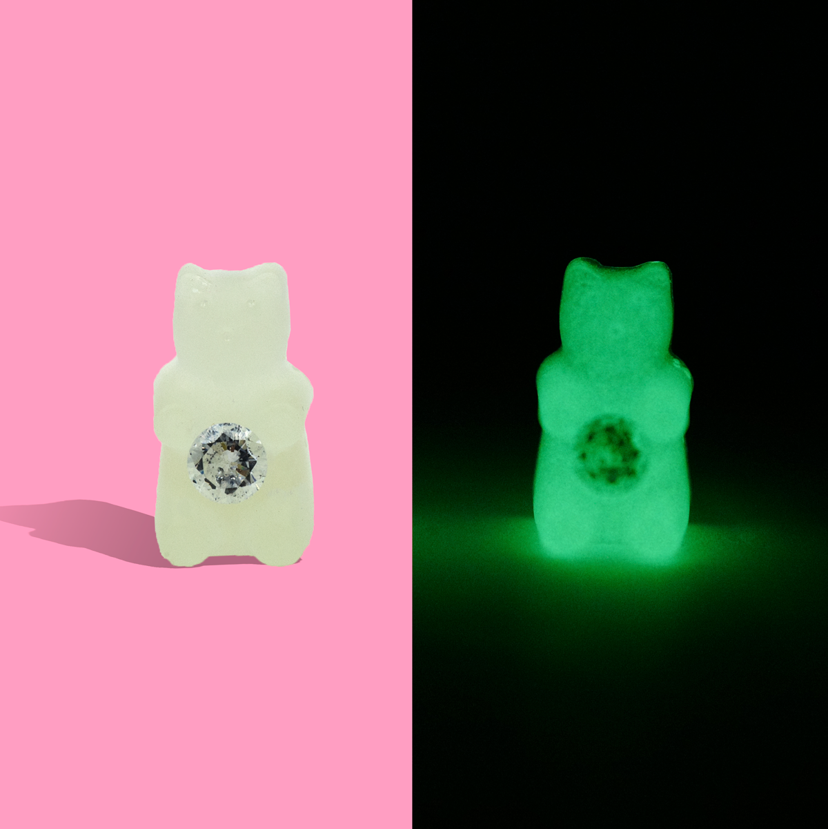 Glow in the Dark - Swarovski Crystal - Single Earring - AMARE WEAR