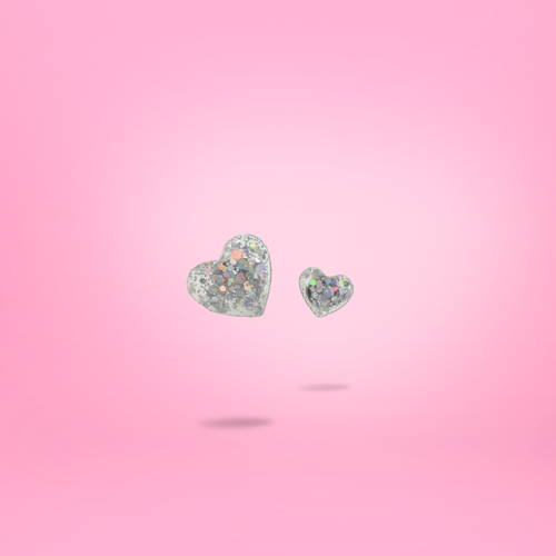 Joy bits - Sparkle heart earring stud