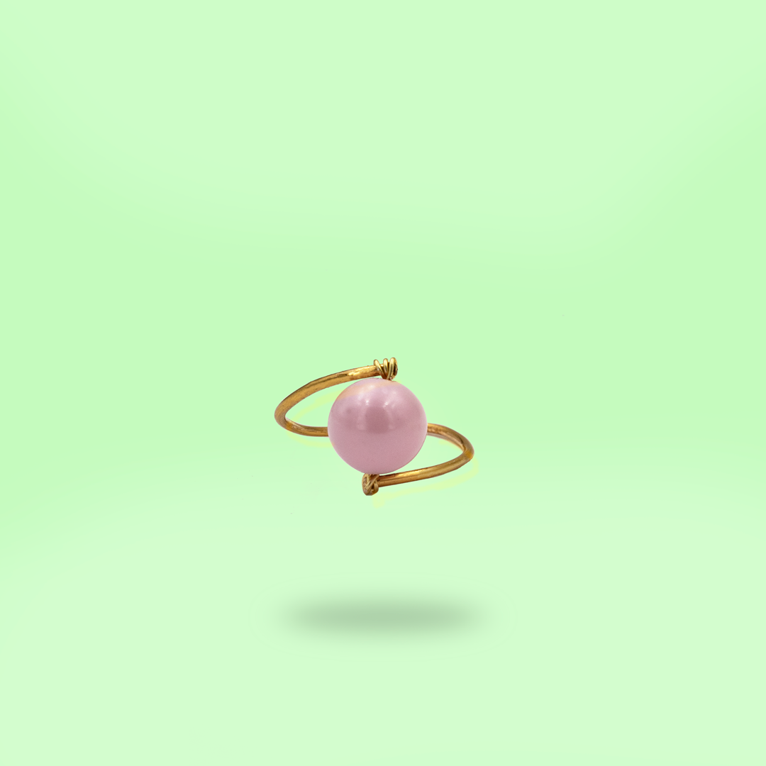 Always Be Mine - Swarovski Crystal Pearl Ring - Pink - AMARE WEAR