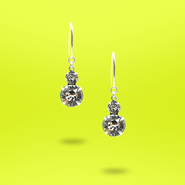 Abstract Collection - Crystal Sparkle Dangle Earrings - AMARE WEAR